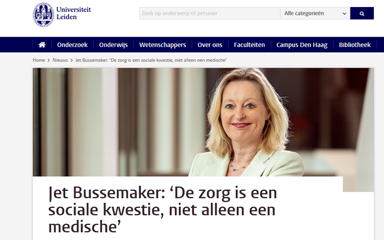 Jet Bussemaker over YEP in de zorg